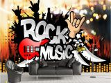 Rock Band Wall Murals Beibehang Custom Wallpaper Photos Rock Music Bar Ktv tooling