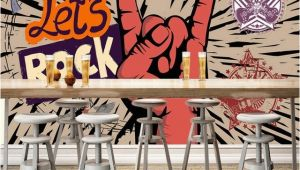 Rock Band Wall Murals Custom Wallpaper Rock Music Art Mural Ktv Bar Cafe Wall