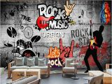 Rock Band Wall Murals Modern Wall Papers Rock Music Background Papier Peint Mural 3d Ktv