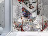 Rock N Roll Wall Mural Pop Art Wallpaper Marilyn Monroe Wall Mural Typographie Wall