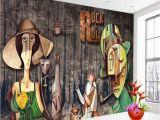 Rock N Roll Wall Mural Shinehome Rock N Roll Drewna Taśmy Muzyki 3d Tapeta Na