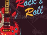 Rock N Roll Wall Mural Vintage Rock and Roll Music Background Vector Illustration