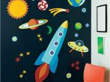 Rocket Ship Wall Mural What A Fun Way to Put Up Planets Spaceship Painting Wall