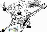 Rockstar Coloring Pages Printables Printable Spongebob Squarepants Be Ing A Rockstar Coloring Page