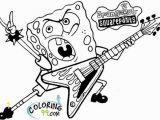 Rockstar Coloring Pages Printables Printable Spongebob Squarepants Be Ing A Rockstar Coloring Page