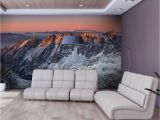 """Rocky Mountain Wall Mural Wallpaper Beautiful Sunrise In the Rocky Mountains"""" 3d"""