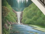 Roller Coaster Wall Mural Nature Waterfall Mural Under A Staircase