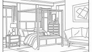 Rooms In A House Coloring Pages Bedroom Around the House Coloring Pages for Adults 1