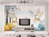 Rooms with Wall Murals Wdbh 3d Wallpaper Custom Mural European Minimalist Relief Elk Tree Living Room Home Decor 3d Wall Murals Wallpaper for Walls 3 D Wallpaper