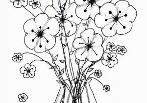 Rose Bouquet Coloring Pages 11 Wonderful Bouquet Flowers In Vase