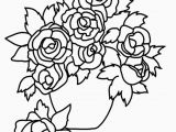 Rose Bouquet Coloring Pages Coloring for Children Best Color Page New