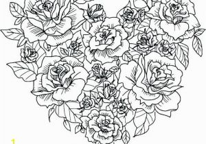 Rose Bouquet Coloring Pages Detailed Rose Coloring Pages Here is A Coloring Page with