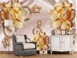 Rose Gold Wall Mural European Luxury Jewelry Rose 3d Wallpaper Papel De Parede