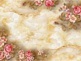 Rose Metal Wall Mural 3d Flower Embossed Ceramic Tile Background Wall