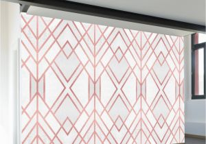 Rose Metal Wall Mural Rose Gold Geo Wall Mural Products