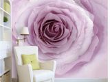Roses and Sparkles Wall Mural ᗕ3d Wall Murals Wallpaper Simple Purple Pink Rose