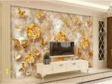 Roses and Sparkles Wall Mural European Style Retro Gold Luxurious Rose Pattern butterfly Tv Wall Mural 3d Wallpaper 3d Wall Papers for Tv Backdrop Flowers Wallpapers Football