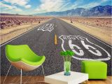 Route 66 Wall Mural Custom Wallpaper 3d Us Route 66 Space Wall Mural Wallpapers for Living Room Restaurant Bar Fice Walls Decor Wall Paper 3d Home Decor