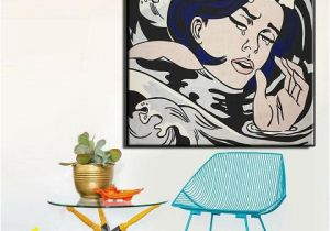 Roy Lichtenstein Wall Mural 2019 Drowning Girl by Roy Lichtenstein High Quality Hand Painted & Hd Print Portrait Wall Art Oil Painting Canvas Home Decor Multi Sizes Ry07 From