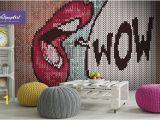 Roy Lichtenstein Wall Mural Removable Wallpaper Pop Art Pop Art Wall Mural Self