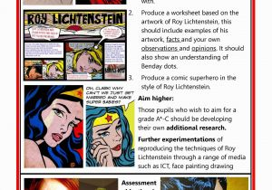 Roy Lichtenstein Wall Mural Roy Lichtenstein Gcse Art Checklist