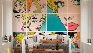Roy Lichtenstein Wall Mural Wallpaper Wall Murals Pop Art Wall Decals Bedroom