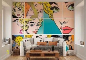 Roy Lichtenstein Wall Mural Wallpaper Wall Murals Pop Art Wall Decals Bedroom