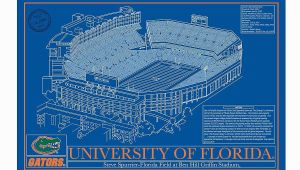 Royals Stadium Wall Mural Auburn University College Football Stadium Blueprint