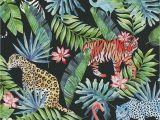 Rumble In the Jungle Coloring Pages Vliestapete Dschungel Tiere Schwarz Bunt P S Collage