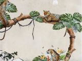 Rush the Field Wall Mural Removable Wallpaper Tropical Cheetahs Mural Wallpaper