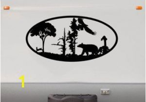 Rv Murals Bear forest Mountains Rv Camper Vinyl Decal Sticker Graphic Custom