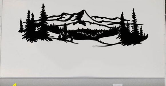 Rv Murals Decals Lake Trees Mountains Rv Camper Vinyl Decal Sticker Graphic Custom