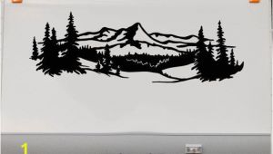 Rv Murals Lake Trees Mountains Rv Camper Vinyl Decal Sticker Graphic Custom