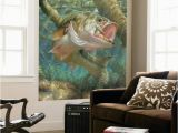 Rv Murals Vinyl Mouth Bass Indoor Outdoor Vinyl Wall Mural Wall Mural at