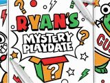 Ryan S Mystery Playdate Coloring Pages Popular Ryan toys Coloring Pages Image Desain Interior