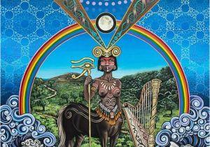 Sacred Art Murals the Centaur by Noa Knafo Sacred Geometry 3 Psy Art