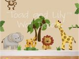 Safari Wall Murals for Nursery Fabric Wall Decals Jungle Animal Safari Girls Boys Bedroom Playroom