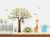 Safari Wall Murals for Nursery Kids Vinyl Wall Decal Safari Animal Wall Art by Nurserywallart