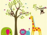 Safari Wall Murals for Nursery Safari Wall Decals Nursery Safari Decals Kids Room Wall