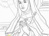 Saint Coloring Pages St Teresa Of Avila Catholic Coloring Page