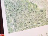 Salt Lake City Wall Murals Salt Lake City Map Watercolor Print Utah City Block Plan
