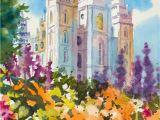 Salt Lake City Wall Murals Salt Lake Lds Temple Painting Salt Lake Temple Spring