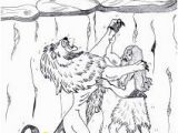 Samson and Delilah Coloring Pages Samson Cartoon Of Samson Struggle with A Lion Coloring Page