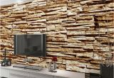 Sandstone Wall Murals Home Decor Wall Papers 3d Stone Brick Wallpaper Custom Wall