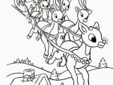 Santa and Snowman Coloring Pages Color the Red Nosed Reindeer Recognized Popularly as Rudolph who