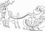Santa Claus and His Reindeer Coloring Pages Outlined Santa Riding His Sleigh Coloring Page