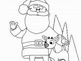 Santa Claus and His Reindeer Coloring Pages Santa S Reindeer Coloring Pages Best Pictures to Color 25 Santas and