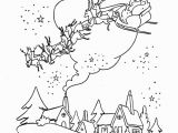 Santa Claus and His Reindeer Coloring Pages Santa Sleigh Drawing at Getdrawings