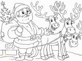 Santa Claus Free Coloring Pages Printable Santa and Reindeer Coloring Page Christmas Coloring
