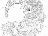 Santa Claus Hat Coloring Page Adult Coloring Page Book A Santa Claus with Hat and Beard for